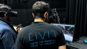 CIVIT VR live stream demo Open House at Tampere University